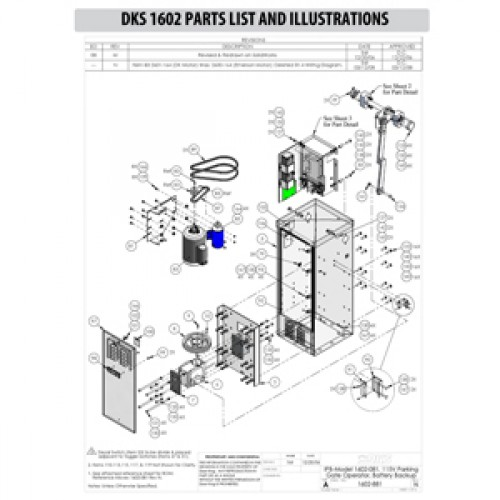 Replacement Parts Diagram - DoorKing 1602 Parts Diagram