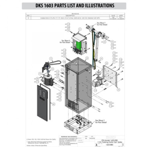 Replacement Parts Diagram - DoorKing 1603 Parts Diagram