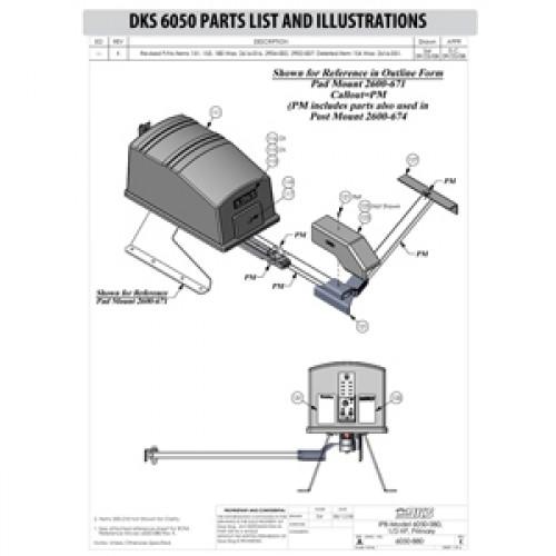 Replacement Parts Diagram - Doorking 6050 Parts Diagram