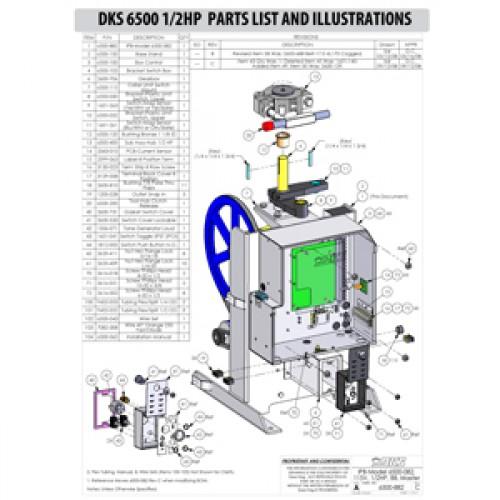 Replacement Parts Diagram - DoorKing 6500 1/2 HP Parts Diagram