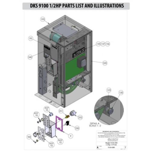 Replacement Parts Diagram - DoorKing 9100 Parts Diagram