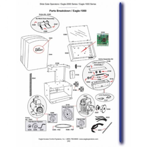Replacement Parts Diagram - Eagle 1000 Parts Diagram