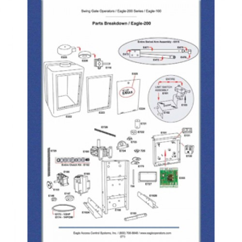 Replacement Parts Diagram - Eagle 200 Parts Diagram