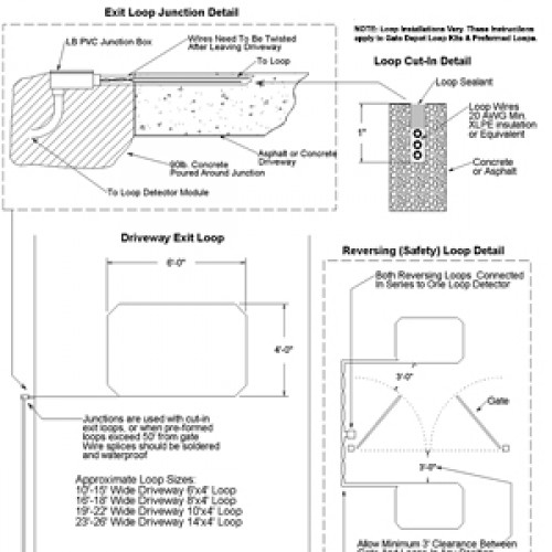 Driveway Exit & Safety Saw-Cut Loop Installation Diagrams