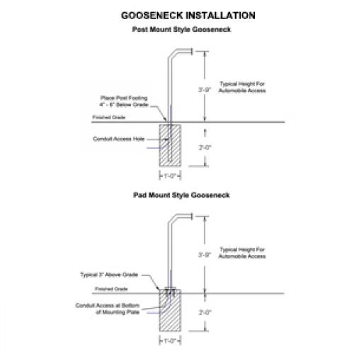 Gooseneck Installation - Post & Pad Mounting