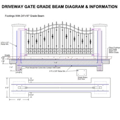 Driveway Gate Grade Beam