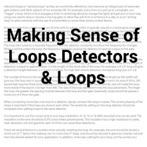 Making Sense of Loop Detectors and Loops