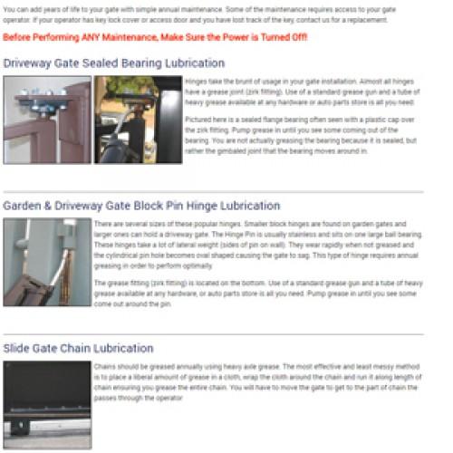 Driveway Gate & Automation System Maintenance