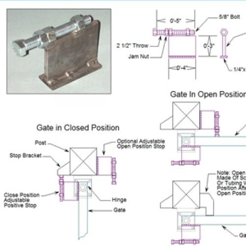 Driveway Gate Positive Stops