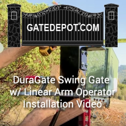 Video - Swing Driveway Gate Installation with Linear Arm Gate Operator Automation