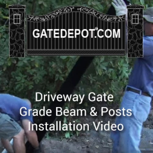 Video - Driveway Gate Grade Beam & Posts Installation