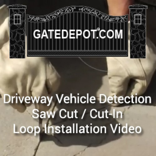Video - Driveway Vehicle Detection Using Saw-Cut / Cut-In Loops