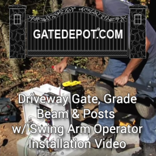 Video - Swing Driveway Gate Installation with Grade Beam, Posts & Swing Arm Gate Automation