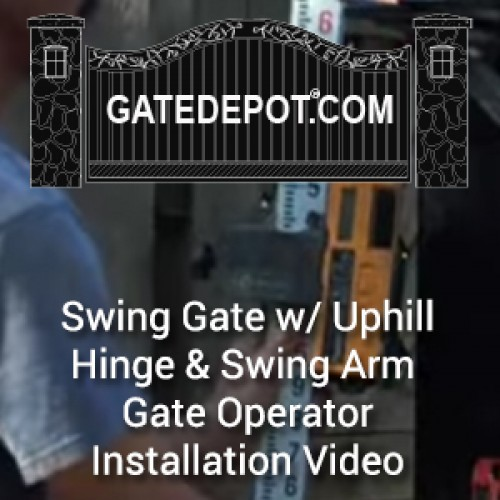 Video - Swing Driveway Gate with Uphill Hinge Installation & Swing Arm Gate Operator Automation