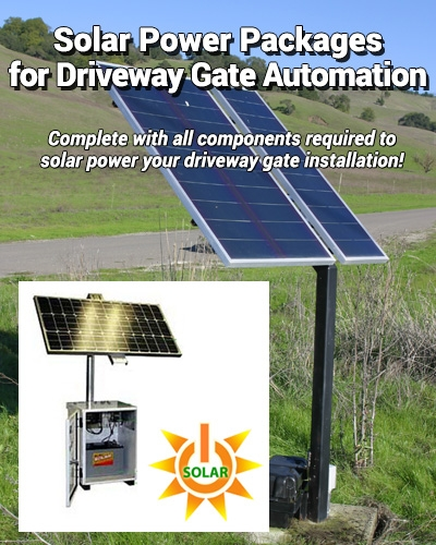 Solar Power Package for Driveway Gate Operators