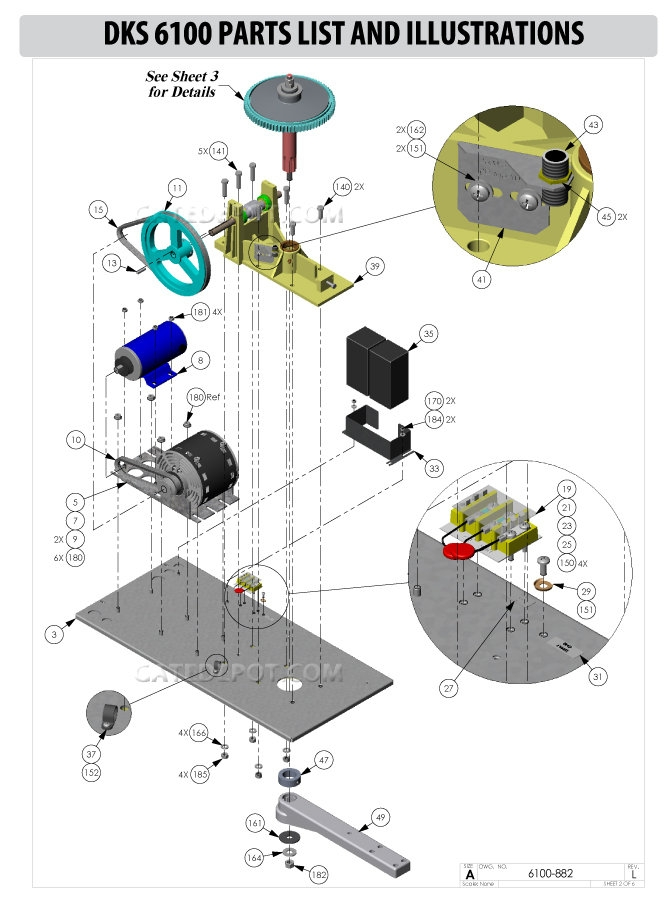 Replacement Parts Diagram Doorking 6100 Parts Diagram