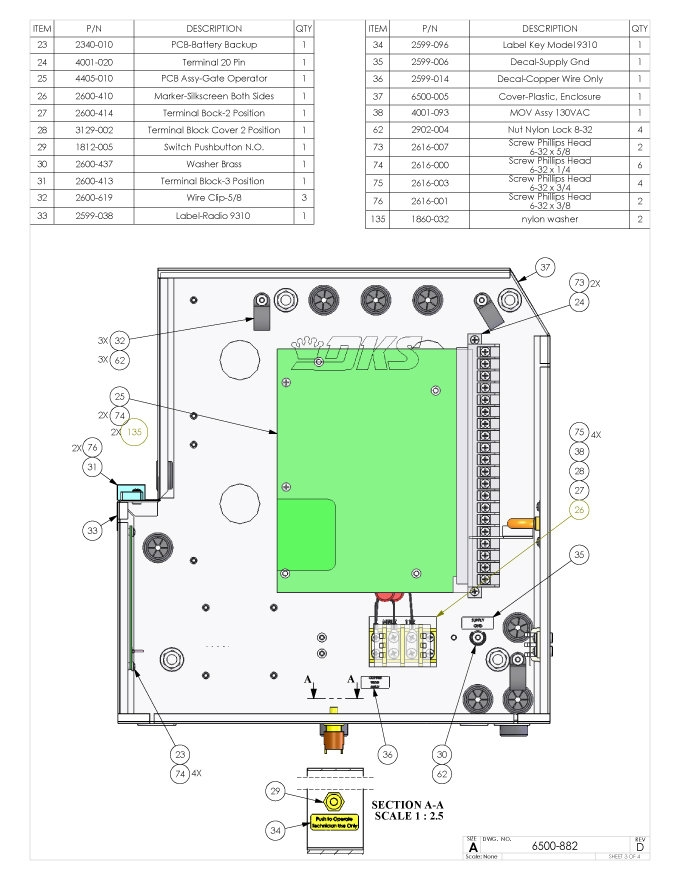 Replacement Parts    Diagram     DoorKing 6500 12 HP with DC