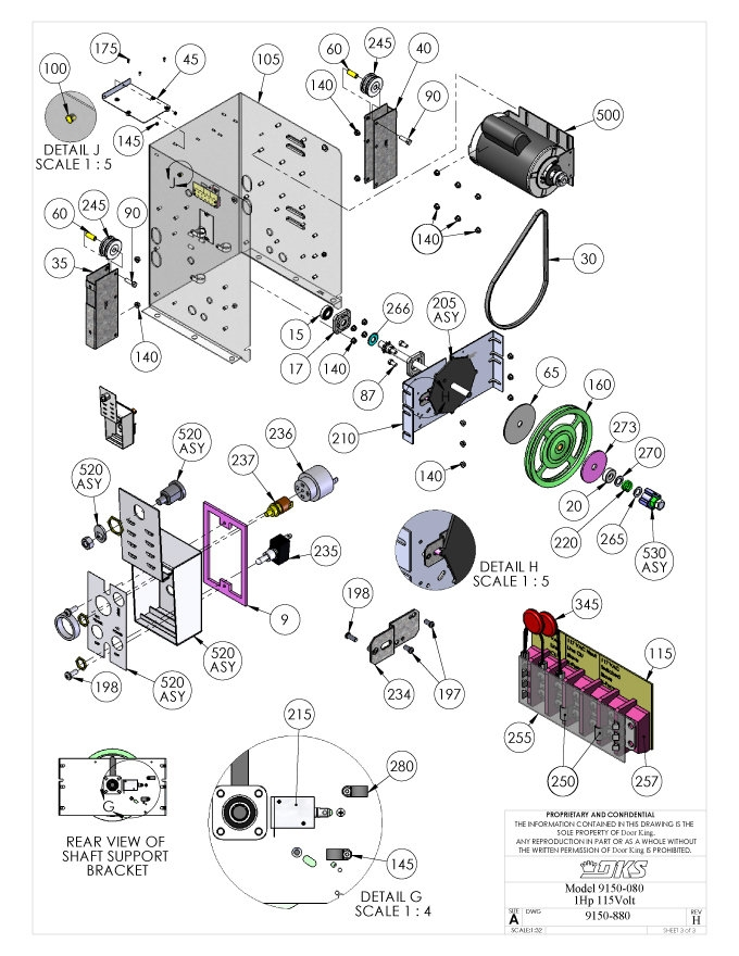 Replacement Parts Diagram