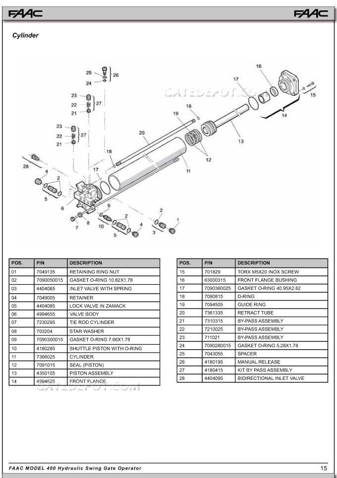 Replacement Parts Diagram