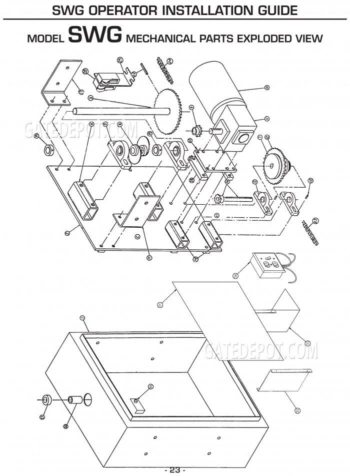 [DIAGRAM_38ZD]  Replacement Parts Diagram - Linear OSCO SWG Parts Diagram | Osco Door Opener Wiring Diagram |  | Gate Depot
